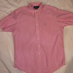New No Tags Ralph Lauren Checked Pink White shirt
